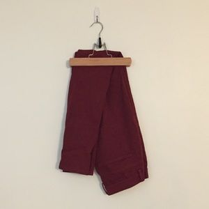 Maroon uniqlo leggings pants
